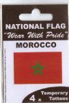 Morocco Country Flag Tattoos.